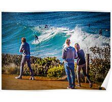 Bells Beach Spectators Poster