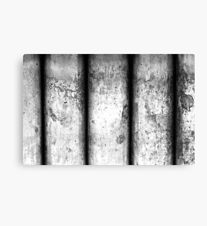 Brass Pillars (Black & White) Canvas Print