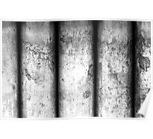 Brass Pillars (Black & White) Poster