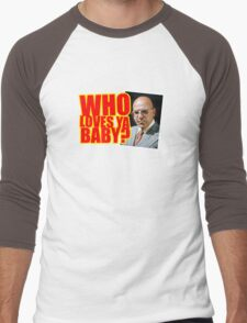 "Kojak - ""Who's Loves Ya?"" Men's Baseball ¾ T-Shirt"