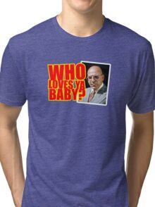 "Kojak - ""Who's Loves Ya?"" Tri-blend T-Shirt"