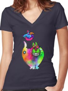 Up to no good Women's Fitted V-Neck T-Shirt