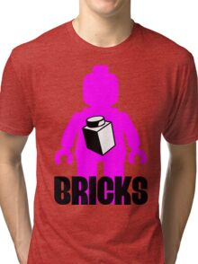 Minifig with Brick Tri-blend T-Shirt