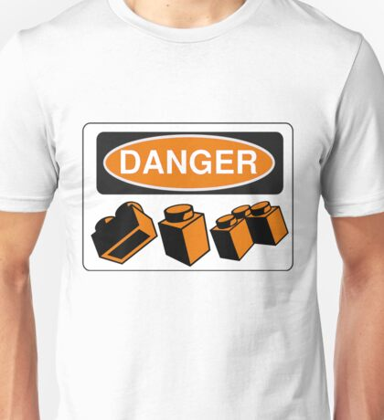 Danger Bricks Sign Unisex T-Shirt