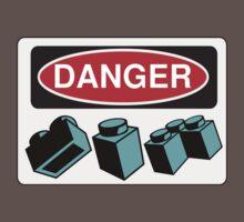 Danger Bricks Sign One Piece - Short Sleeve
