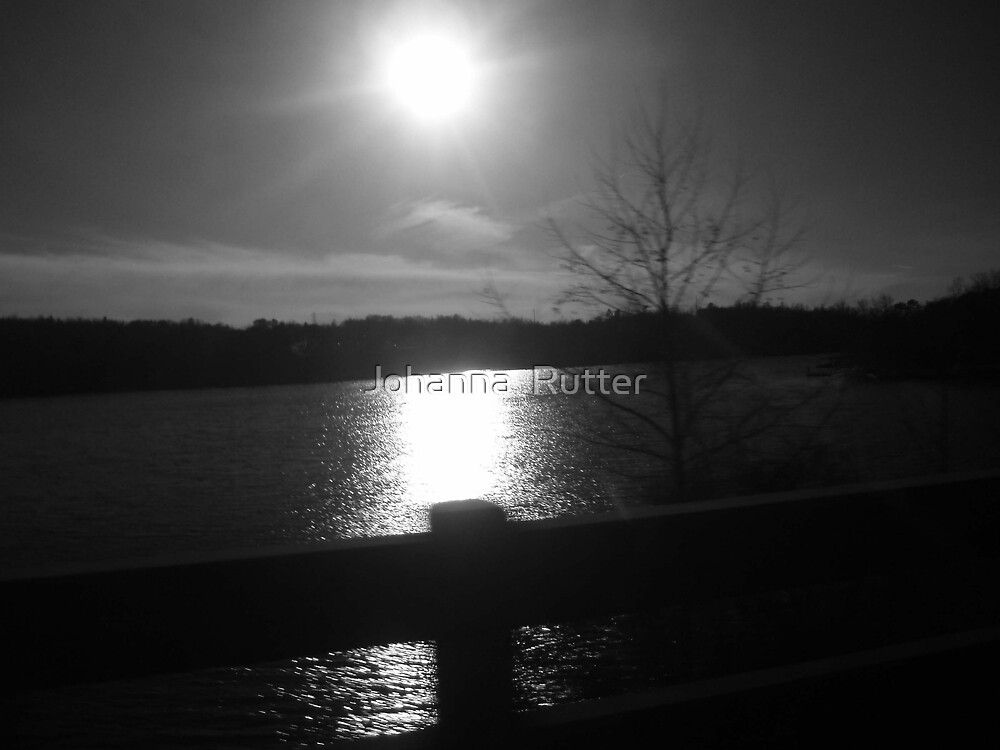 price lake black and white by Johanna  Rutter