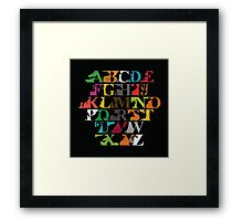 Alphabet zoo Framed Print