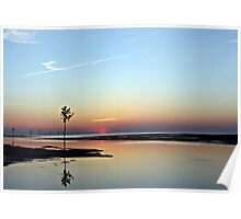 Rock Harbor at Sunset Poster