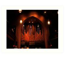Chapel Organ in Color Art Print