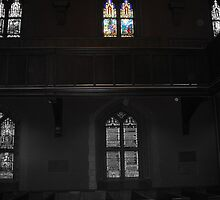 Stained Glass Window with Selective Color by MrsBuden