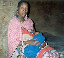 Masai Mother & Baby, Kenya by Graham Geldard