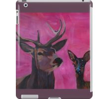 Winters Deer Family with Fawn and Hind iPad Case/Skin