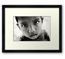 Street Eyes Framed Print
