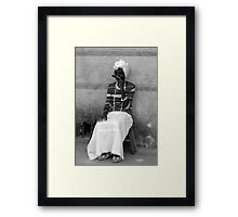 woman with cigar Framed Print