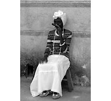 woman with cigar Photographic Print