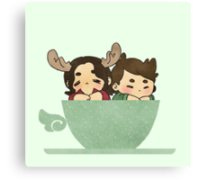 Winchesters in a cup Canvas Print