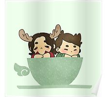 Winchesters in a cup Poster