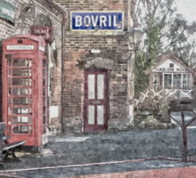 Vintage Hadlow Road in Oils Sticker