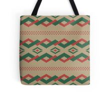 knitted pattern Tote Bag