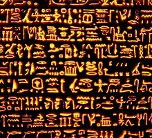 Glowing Hieroglyphics by dandouna321
