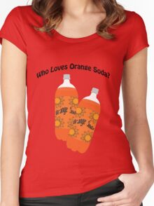 Who Loves Orange Soda? Women's Fitted Scoop T-Shirt