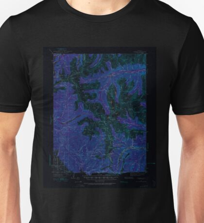 USGS TOPO Map Colorado CO Garfield 402797 1940 62500 Inverted Unisex T-Shirt