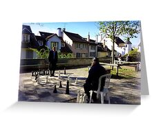 Playing Chess in Zurich Greeting Card