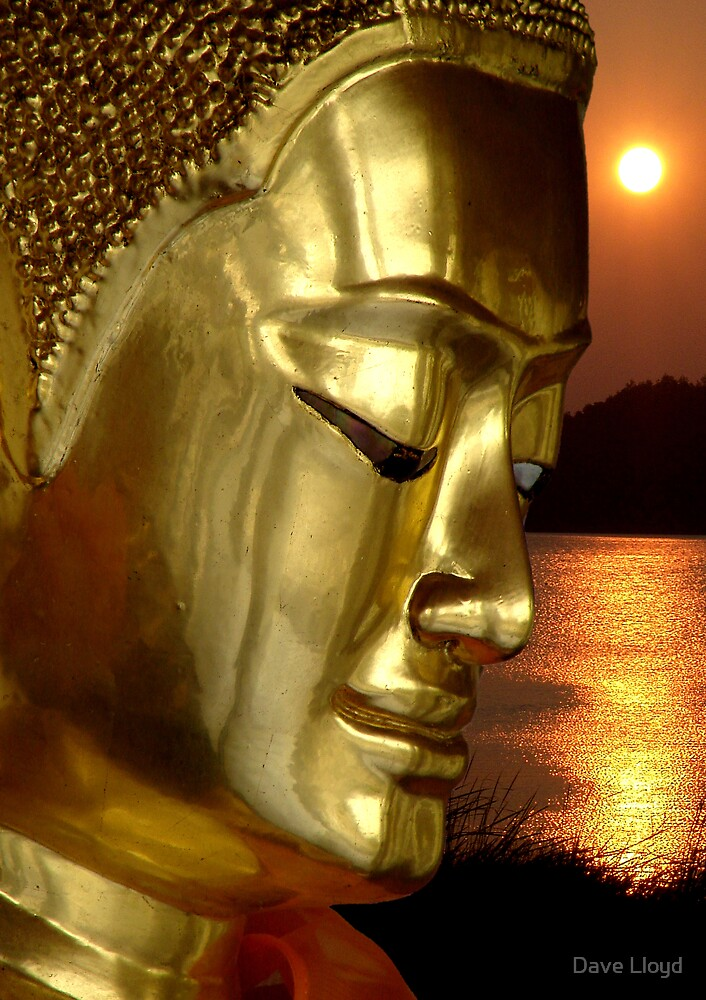 Buddha And Sunset by Dave Lloyd