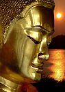 Buddha And Sunset by Dave Lloyd