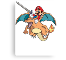 Mario x Charizard Canvas Print