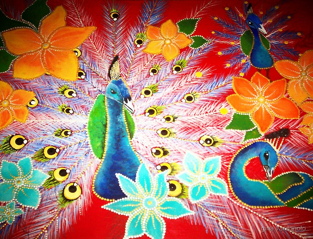 peacock by gina varagnolo
