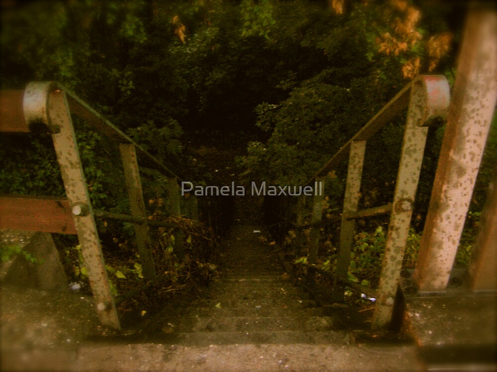 Staircase to where... by Pamela Maxwell