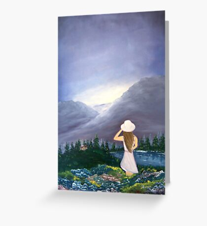 Mystery Girl Greeting Card
