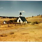 Country Church in Rural Montana by Janet Ellen Lusk