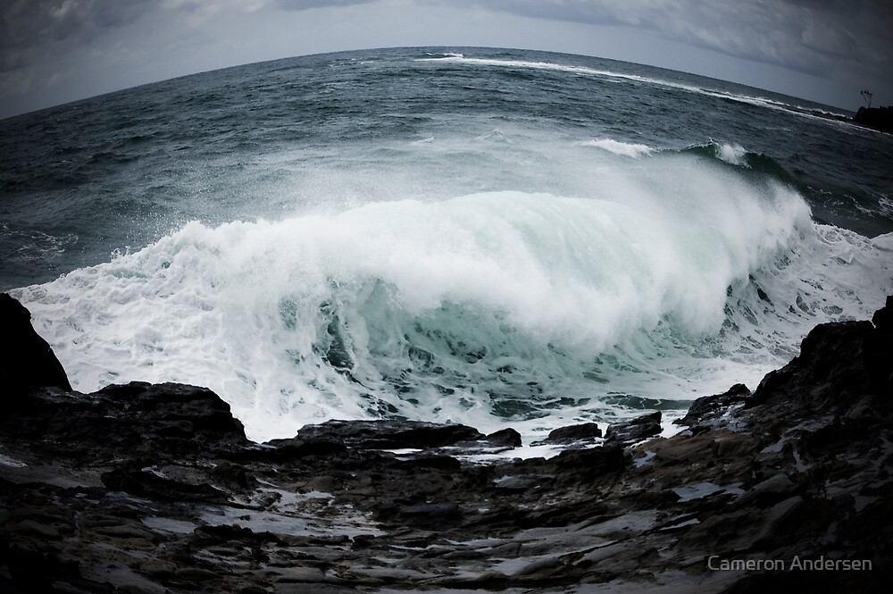 Angry Sea. by Cameron Andersen