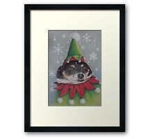 A Furry Christmas Elf Framed Print