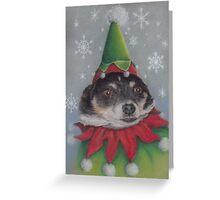 A Furry Christmas Elf Greeting Card