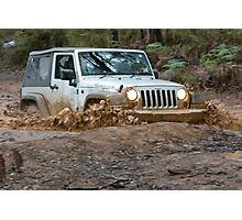 Jeep Wrangler Rubicon in the mud Photographic Print