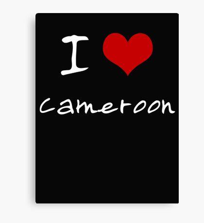 I love Heart Cameroon Canvas Print