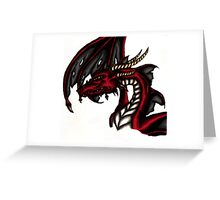 cell shaded dragon Greeting Card