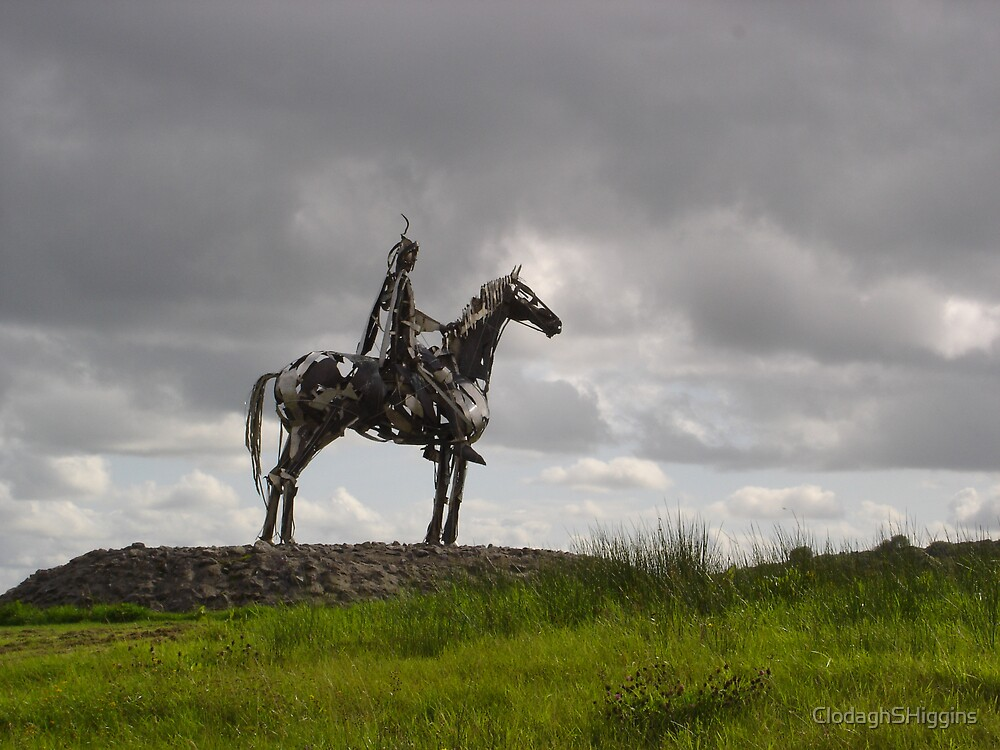 The Horseman at Roscommon Ireland by ClodaghSHiggins