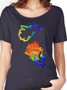Colorful Oak Leaves Women's Relaxed Fit T-Shirt