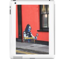 Cork Ireland Street art boy flower red black iPad Case/Skin