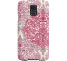 Happy Place Doodle in Berry Pink, Cream & Mauve Samsung Galaxy Case/Skin