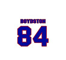 National football player Max Boydston jersey 84 Photographic Print