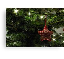 Knitted star Canvas Print