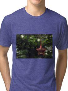 Knitted star Tri-blend T-Shirt
