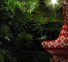 Knitted star Sticker