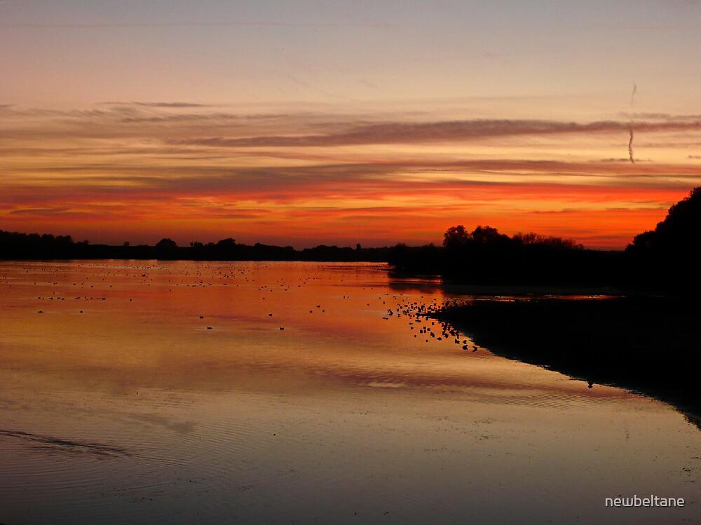 Sunset over Abberton by newbeltane