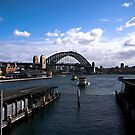 Arriving at Circular Quay Sydney by Ben Shaw